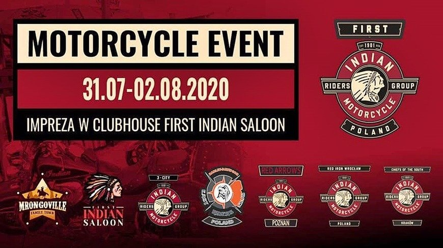 Motorcycle Event - Indian & Friends w Mrągowie